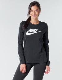 Abbigliamento Donna T-shirts a maniche lunghe Nike W NSW TEE ESSNTL LS ICON FTR Nero