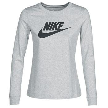 Abbigliamento Donna T-shirts a maniche lunghe Nike W NSW TEE ESSNTL LS ICON FTR Grigio