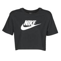 Abbigliamento Donna T-shirt maniche corte Nike W NSW TEE ESSNTL CRP ICN FTR Nero