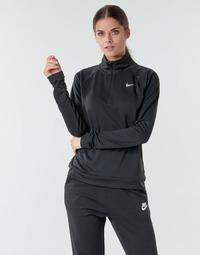 Abbigliamento Donna T-shirts a maniche lunghe Nike W NK PACER HZ Nero