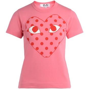 Abbigliamento Donna T-shirt maniche corte Comme Des Garcons T-Shirt da donna  rosa con cuore a Rosa