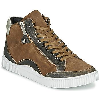 Scarpe Donna Sneakers alte Regard ISLANDE V2 BONGO CHAMOIS Marrone
