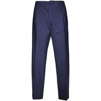 Abbigliamento Uomo Pantaloni da completo Be Able Pantalone blu in lana- Blu