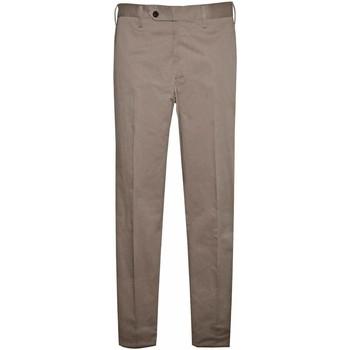 Abbigliamento Uomo Chino Germano Pantalone con bustino Beige