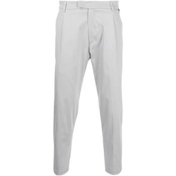 Abbigliamento Uomo Pantaloni Low Brand Pantalone con pince- Grigio