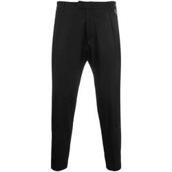 Abbigliamento Uomo Pantaloni Low Brand Pantalone nero corto- Nero
