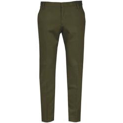 Abbigliamento Uomo Chino Entre Amis Pantalone verde militare- Nero