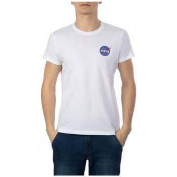 Abbigliamento Uomo T-shirt maniche corte Nasa NS-BASIC-BALL Bianco