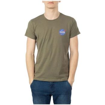 Abbigliamento Uomo T-shirt maniche corte Nasa NS-BASIC-BALL Verde
