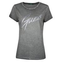 Abbigliamento Donna T-shirt maniche corte Guess SS CN IVONNE TEE Nero