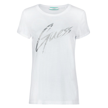 Abbigliamento Donna T-shirt maniche corte Guess SS CN IVONNE TEE Bianco