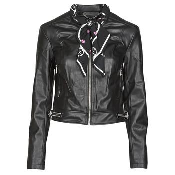 Abbigliamento Donna Giacca in cuoio / simil cuoio Guess NEW JONE JACKET Nero