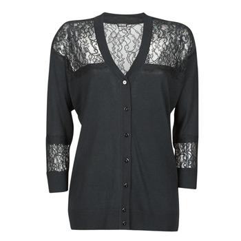 Abbigliamento Donna Gilet / Cardigan Guess IRENE CARDI SWTR Nero