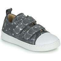 Scarpe Bambina Sneakers basse Citrouille et Compagnie NADIR Grigio / Argento