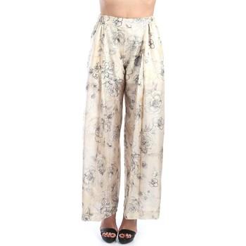 Abbigliamento Donna Pantaloni morbidi / Pantaloni alla zuava Erika Cavallini P9PL05 Ecru