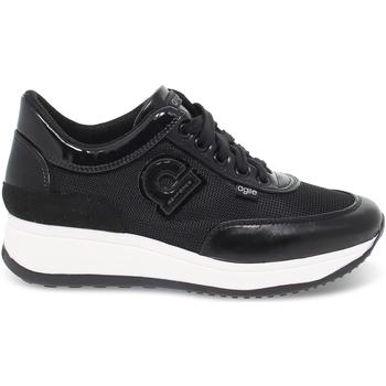 Scarpe Donna Sneakers basse Rucoline Sneakers  AGILE AUDREY in pelle e tessuto nero nero
