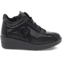 Scarpe Donna Sneakers basse Rucoline Sneakers  AGILE JACKIE in rete e pelle nero nero