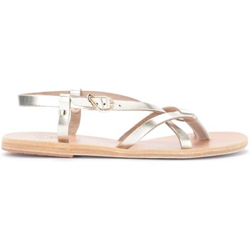Scarpe Donna Sandali Ancient Greek Sandals Sandalo Semele in pelle metallizzata platino Oro