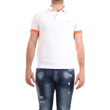 Abbigliamento Uomo Polo maniche corte Sun68 A30114 Bianco