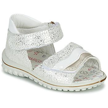 Scarpe Bambina Sandali Primigi  Bianco / Argento