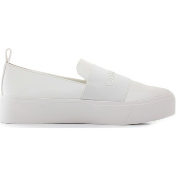 Scarpe Donna Slip on Calvin Klein Shoes e6674 Bianco