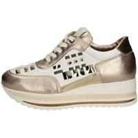 Scarpe Donna Sneakers basse Comart 1A3385 BIANCO E ORO
