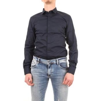Abbigliamento Uomo Camicie maniche lunghe Antony Morato mmsl00293-fa450001 Blu