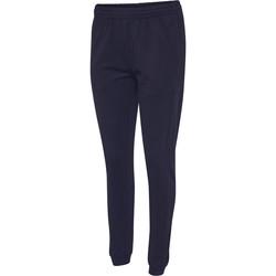 Abbigliamento Donna Pantaloni da tuta Hummel Pantalon femme  hmlgo cotton bleu marine