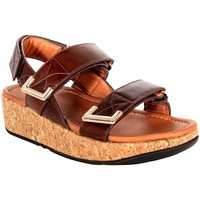 Scarpe Donna Sandali FitFlop REMI ADJUSTABLE BACK-STRAP SANDALS CHOCOLATE BROWN Brown