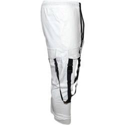 Abbigliamento Uomo Pantalone Cargo Malu Shoes Pantaloni tuta cargo uomo bianco con tasconi laterali con lacci BIANCO