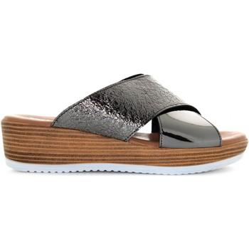 Scarpe Donna Ciabatte Valleverde scarpe donna ciabatte G52188T ANTRACITE Pelle