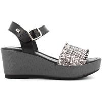Scarpe Donna Sandali Valleverde scarpe donna sandali 32413 ACCIAIO Acciaio / Nero