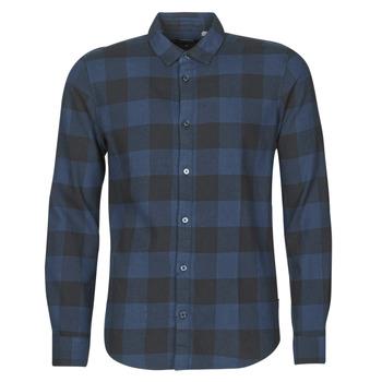 Abbigliamento Uomo Camicie maniche lunghe Only & Sons ONSGUDMUND Marine / Nero