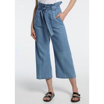 Abbigliamento Donna Pantaloni morbidi / Pantaloni alla zuava Lois pantalon cinturon dael jinx bleu clair 206902042 Blu