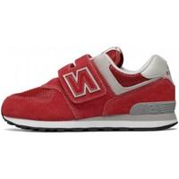 Scarpe Bambino Sneakers basse New Balance iv574 Rosso