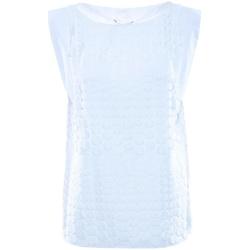 Abbigliamento Donna Top / Blusa Luckylu BLUSA SMANICATA  PIZZO BOLLI 0001-bianco