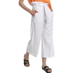 Abbigliamento Donna Pantaloni morbidi / Pantaloni alla zuava Lois pantalon cinturon dael jinx blanc 206902042 Bianco