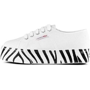 Scarpe Donna Sneakers basse Superga s41157w Con Zeppa Donna Bianco Bianco