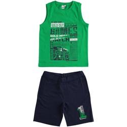 Abbigliamento Bambino Completo Ido 4J019 Verde/blu