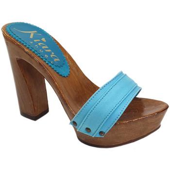 Scarpe Donna Ciabatte Kiara Shoes K12001 Turchese