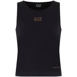 Abbigliamento Donna Top / T-shirt senza maniche Emporio Armani EA7 Canotta  3HTH69 TJJ6Z Donna Nera Nero