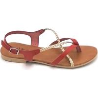 Scarpe Donna Sandali Latika 4181 Rosso-oro