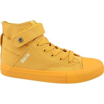 Scarpe Donna Sneakers alte Big Star FF274581 Giallo