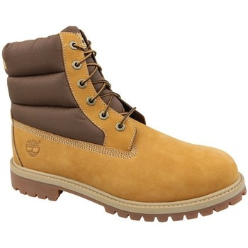 Scarpe Unisex bambino Sneakers alte Timberland 6 IN Quilit Boot J Marrone, Miele
