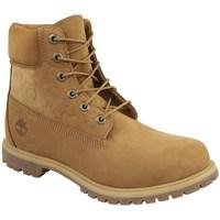 Scarpe Donna Sneakers alte Timberland 6 IN Premium Boot W Marrone