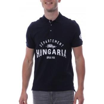 Abbigliamento Uomo Polo maniche corte Hungaria H-16TLMODOLE Blu