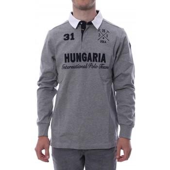 Abbigliamento Uomo Polo maniche lunghe Hungaria H-16TLMOLORE Grigio