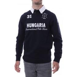 Abbigliamento Uomo Polo maniche lunghe Hungaria H-16TLMOLORE Blu