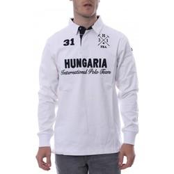 Abbigliamento Uomo Polo maniche lunghe Hungaria H-16TLMOLORE Bianco