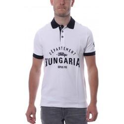 Abbigliamento Uomo Polo maniche corte Hungaria H-16TLMODOLE Bianco